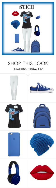 """""""STICH"""" by murray3am ❤ liked on Polyvore featuring Phase Eight, Converse, Disney, Kendall + Kylie, Coal, Vivitar and Lime Crime"""