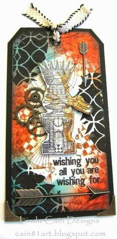 FRIENDS in ART: A Masculine Good Wishes Tag step-out on blog today with  Ranger products.