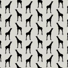 Cotton by the metre - GIRAFF (black). For more information Please take a moment to visit our website : http://www.alexandelle.com.au/