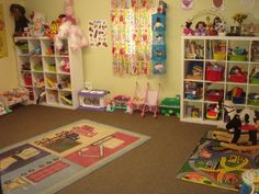 Garage conversion to at home day care. Sherman Oaks, Ca- Luli Day Care Childcare Rooms, Daycare Rooms, Kids Daycare, Home Daycare, Daycare Ideas, Daycare Room Design, Garage Playroom, Family Child Care, Toddler Classroom