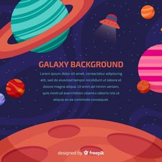Galaxy Background, Galaxy Art, Flat Design, Lorem Ipsum, Vector Free, Graphic Design, Blog, Colorful, Illustrations