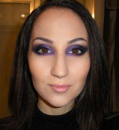LC makeup artist: smokey purple