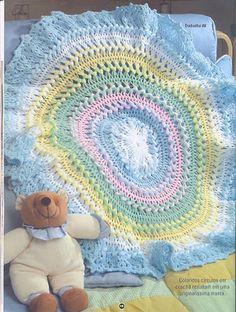 Crochet de Grampo - Manta Primavera
