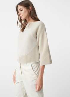 Metal thread sweater - Cardigans and sweaters for Women | MANGO USA