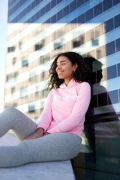 Pink Majuscule hoodie from Famme Hoodies, Pink, Cotton, Women, Fashion, Moda, Sweatshirts, Fashion Styles, Parka