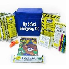 MKT-SEK School Emergency Kit from Sunset Survival and First Aid, classroom lockdown kits, emergency supplies, earthquake kits, disaster preparedness