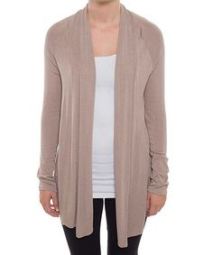 Love this Mocha Open Cardigan by Coveted Clothing on #zulily! #zulilyfinds