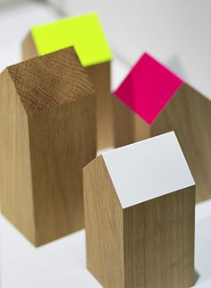 Love these cute wooden houses from applicata.