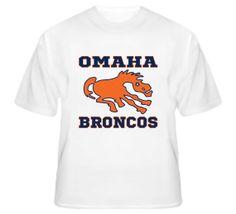 Vintage Denver Broncos Omaha Football T Shirt  #nfl #denver #broncos #manning #18 #peyton #omaha