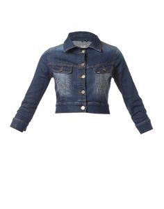 Cropped Denim Jacket Cropped Denim Jacket, Fashion Outfits, Womens Fashion, Rihanna, Jackets, Clothes, Dresses, Down Jackets, Outfits