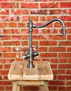 Waterstone Annapolis Two Handle Kitchen Faucet - 8020. Shown in Antique Pewter