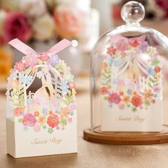 50pcs Bride And Groom Wedding Favor Box Flower Gift Box Wedding Decoration Wedding Bride And Groom Candy Box Party Supplies //Price: $42.36 & FREE Shipping //     #birthdaysupplies