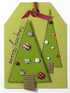 Holiday Tags with Brads, design by Tracy Kyle
