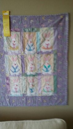 Bunny quilt-honorable mention state fair of Texas