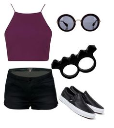 """""""Untitled #5"""" by giuliana-dametto on Polyvore featuring Topshop, Vans, Miu Miu and L'Artisan Créateur"""