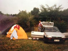 Make: Toyota, Model: Corolla 1200 12v, Register: UUL-400, Purchased: 1985, Sold: 1986, Comments: The first car that I took to see the world. This pic is taken in South of France with Brian A.