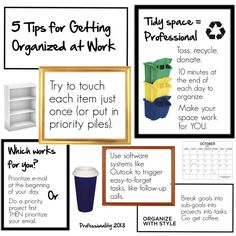 """5 tips for getting organized at work"" by professionality on Polyvore"