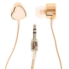 Rose-Gold toned heart shaped earbuds audiophile in 2019 наушники, корейская Notebooks, Cute Headphones, Accessoires Iphone, Ear Plugs, Girls Accessories, Iphone Accessories, Audiophile, Cool Gifts, Heart Shapes