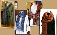how to wear shawl-stoles