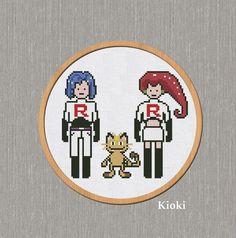 Cross Stitch Pattern Team R Rocket  Instant Download