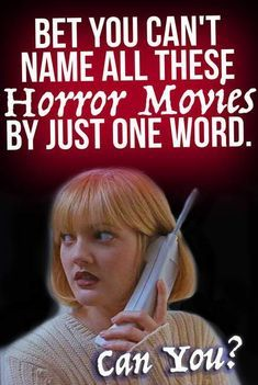 Quiz: Bet You Can't Name All These Horror Movies by Just One Word. How well do you actually know classic horror movies? Can you name all of these films by just a one word clue without cheating? Halloween Movies Scary, Scary Movie List, Horror Movie Costumes, Scary Movies, Halloween Quizzes, Comedy Movies, Halloween Party, Horror Movie Quotes, Movie Memes