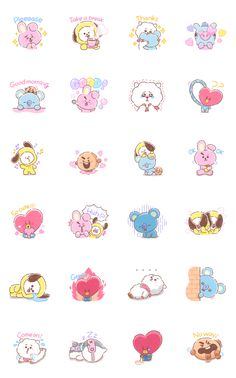 UNIVERSTAR is now available as LINE Emoji.Tell your own story with unique expressions from all eight characters! Spice up your chat with UNIVERSTAR Must-have Emoji! Kawaii Stickers, Cute Stickers, Sweet Talker, Kpop Diy, Tsumtsum, Cute Kawaii Drawings, Tumblr Stickers, Bts Drawings, Journal Stickers