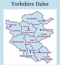 what villages are in wensleydale maps - Google Search