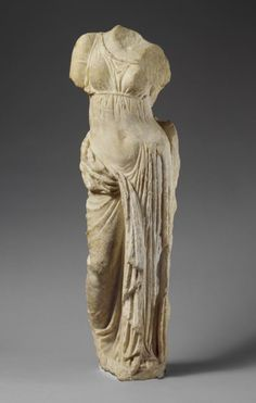 Marble statue of Aphrodite. Period: Hellenistic. Date: 2nd century B.C. Culture: Greek.