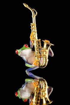 Frog and Sax Photo  Saxaphone  Music  Musical by FrogFun on Etsy  this is the best thing that i have ever seen.