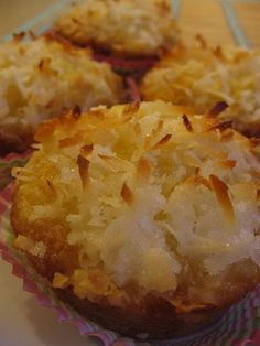 Pina Colada Muffins - anything with pineapple and coconut has to be good.