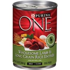 Purina ONE SmartBlend Natural Classic Ground Chicken & Brown Rice Entree Adult Wet Dog Food, 13 Oz. (Pack of Chicken And Brown Rice, Wet Dog Food, Pet Food, Canned Dog Food, Long Grain Rice, Dog Branding, Dog Food Brands, Complete Nutrition, Ground Chicken