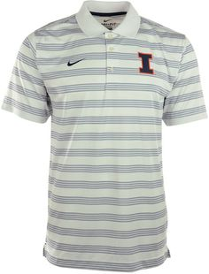 Be sure to grab the Nike NCAA Preseason polo shirt, featuring Dri-FIT technology and professional golf styling. With contrast stripes and a raised Illinois Fighting Illini logo at the chest, you might get mistaken for an assistant coach. Polo collar Pullover style