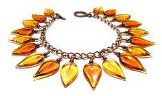 'Amber Leaves' Bracelet