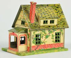 Sweet Tin litho Lionel Train Bungalow