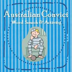 Australian Convict Word Search and Activity Sheet - quick, easy and ...