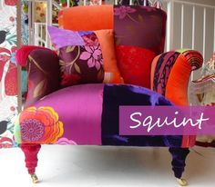 Some Pinterest Favorites: Patchwork Chairs, Sofas and More - The Colorful BeeThe Colorful Bee