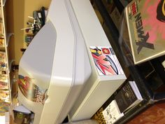 Snazzy magnet on that there cash register ... : ) Mammoth Comics in Tulsa, Oklahoma