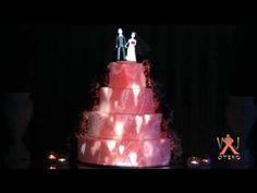 Projeção Mapeada - bolo de casamento - YouTube