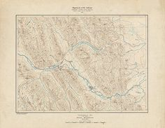 Topographical map of the Rocky Mountains 1902. by RetroPrintmaker