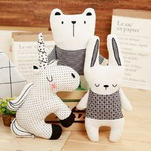Fashionable Pillow Nordic Bear Rabbit Unicorn Throw Pillow Cushion Cute Animals Woman Children Room Cushions Filling Animal Form Home & Garden/Home Textile Handmade Stuffed Animals, Sewing Stuffed Animals, Stuffed Toys Patterns, Unicorn Cushion, Unicorn Pillow, Animal Cushions, Unicorn Doll, Bunny And Bear, Fabric Toys