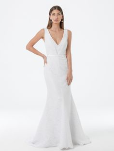 Looking for your perfect wedding dress? Check out Amaline by Amaline Vitale. It is our Ready To Wear collection featuring stunning dresses made of luxe fabric. Perfect Wedding Dress, Stunning Dresses, Cotton Lace, Formal Dresses, Wedding Dresses, Dress Making, Ready To Wear, Gowns, Bride