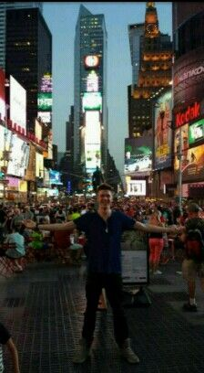 Collins in New York after making the Vegas round!