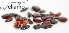 Natural baltic amber beads drilled free form by byvellamosupplies, $10.00