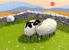 Sweet Nothings by Thomas Joseph Sheep Illustration, Sheep Paintings, Baa Baa Black Sheep, Sheep Art, Sheep And Lamb, Camping Crafts, Naive Art, Sweet Nothings, Whimsical Art