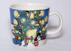 """Moomin mug """"Christmas"""". Rare edition sold in 2004 and 2005. Mug nr. 28"""