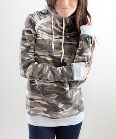 This Jacey Lane Camouflage Double-Hooded Sweatshirt by Jacey Lane is perfect! #zulilyfinds