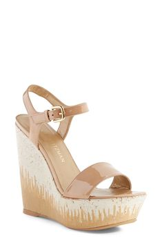 304117383f Stuart Weitzman - Single Platform Wedge Sandal #wedgesandals Gold Wedges,  Platform Wedge Sandals,