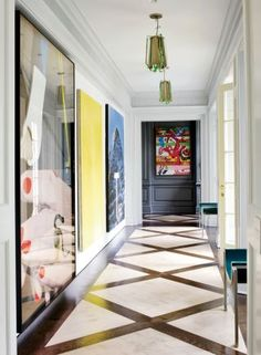 Contemporary Staircase/Hallway by Fox-Nahem Associates and Alveary Architecture in Greenwich, Connecticut