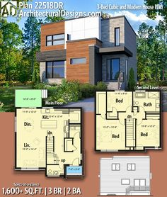 166 best Modern House Plans & Contemporary Home Designs images on ...