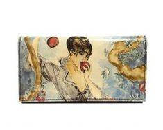 Ručne-maľovaná-peňaženka-7757-s-motívom-žena-s-jablkom Wallet, Purses, Diy Wallet, Purse